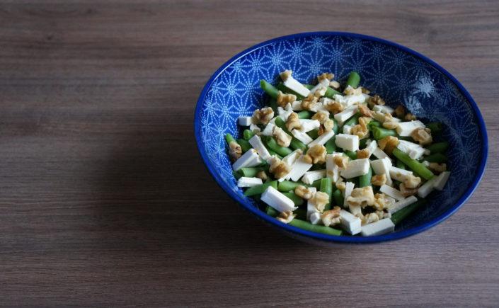 Salade met sperziebonen, feta en walnoten - Happy Mood Happy Food