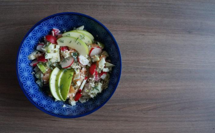 Zalmsalade met venkel en radijs - Happy Mood Happy Food