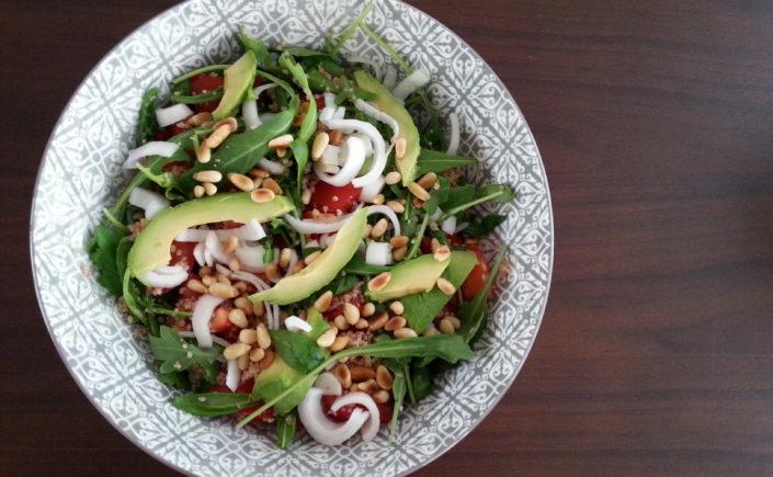 Couscoussalade met avocado en tomaat - Happy Mood Happy Food
