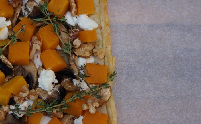 Plaattaart met pompoen en geitenkaas - Happy Mood Happy Food