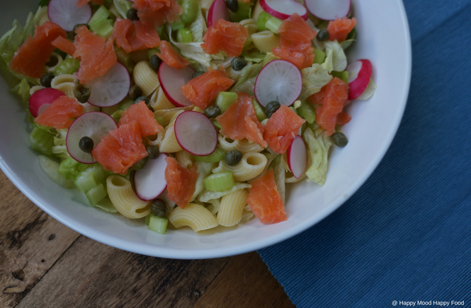 Pastasalade met zalm - Happy Mood Happy Food