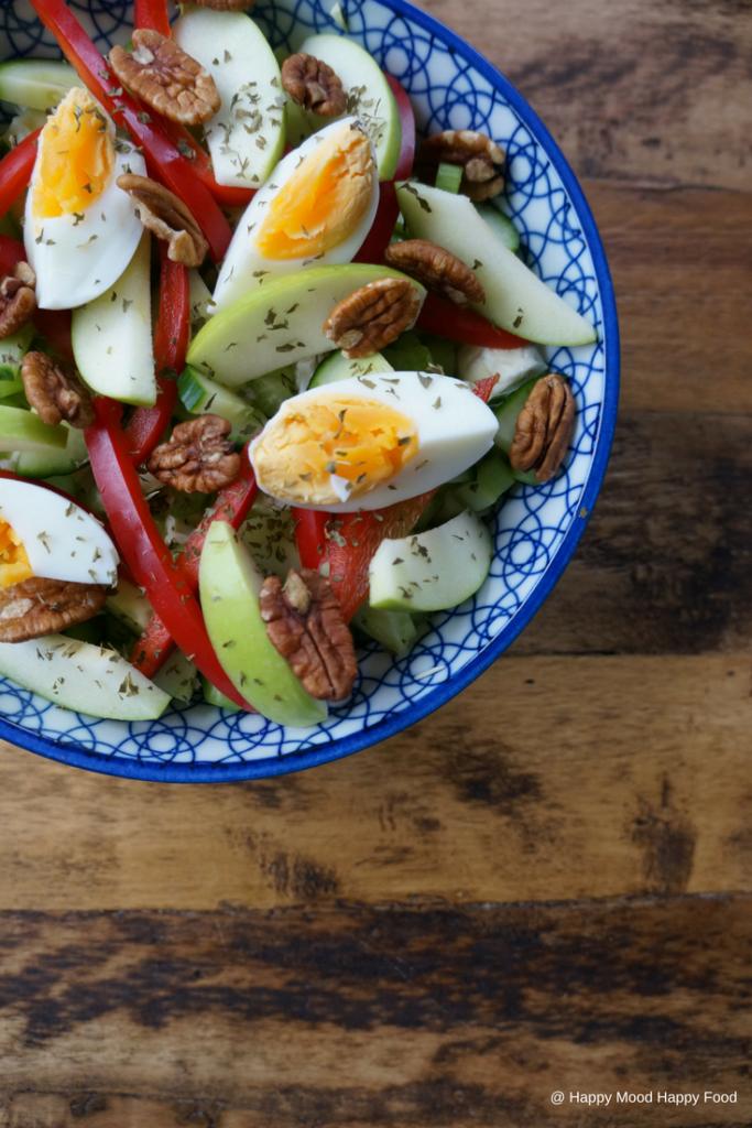 Salade met spitskool, paprika en ei - Happy Mood Happy Food